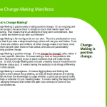 The Change-Making Manifesto