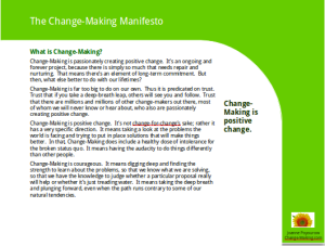 ChangeMaking Manifesto