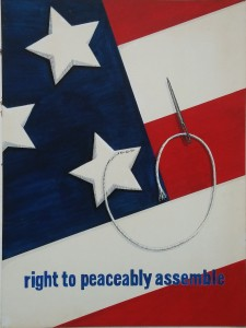 Right to peaceably assemble by Joanne Vana Poyourow 1979