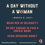 A Day Without a Woman – Weds March 8